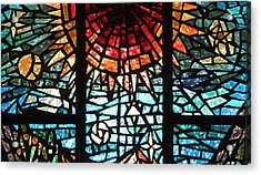 Acrylic Print featuring the photograph Stained Glass Sun by Michael Flood