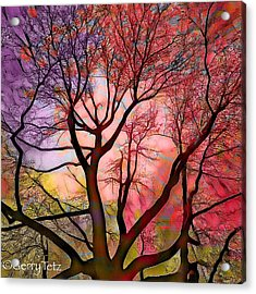Stained Glass Sunrise 2 Acrylic Print
