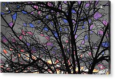 Stained Glass Sunset Acrylic Print