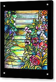 Stained Glass Tiffany Robert Mellon House Acrylic Print