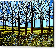 Stained Glass Trees Acrylic Print by Elizabeth Robinette Tyndall
