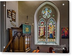 Acrylic Print featuring the photograph Stained Glass Uk by Adrian Evans