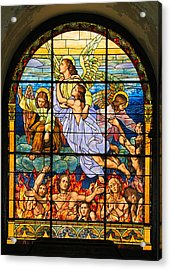 Acrylic Print featuring the photograph Stained Glass Window by Elizabeth Budd