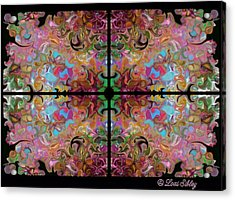 Stained Glass Window Acrylic Print by Loxi Sibley