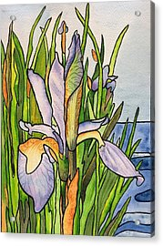 Stained Iris Acrylic Print