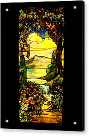 Stained Landscape Acrylic Print by Donna Blackhall