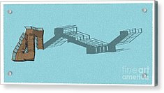 Stair 44 Long Shadow Architect Architecture Acrylic Print