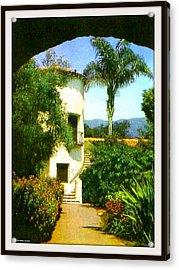 Staircase At The Biltmore Hotel, Santa Barbara Ca, 1929 Acrylic Print