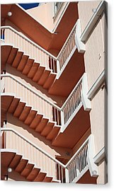 Stairs And Rails Acrylic Print by Rob Hans