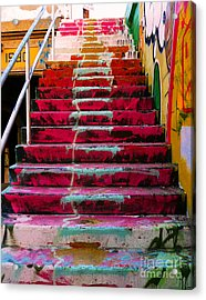 Stairs Acrylic Print by Angela Wright