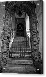 Stairs Beyond B-w Acrylic Print by Christopher Holmes