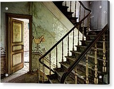 Stairs In Abandoned Castle - Urban Decay Acrylic Print by Dirk Ercken