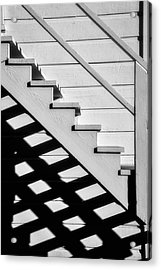 Stairs In Black And White Acrylic Print by Garry Gay
