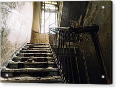 Stairs In Haunted House Acrylic Print