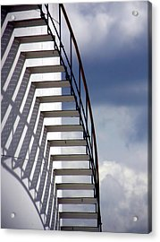 Stairs In The Sky Acrylic Print by David April