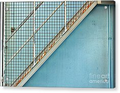 Stairs On Blue Wall Acrylic Print