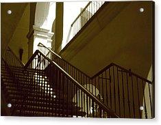 Stairs To 2nd Floor Acrylic Print by Nicholas J Mast