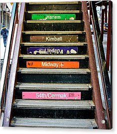 Stairs To The Chicago L Acrylic Print