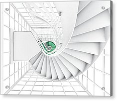 Stairs_2_kinemathek Acrylic Print by Herbert A. Franke