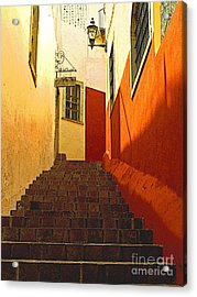 Stairway Guanajuato Acrylic Print by Mexicolors Art Photography