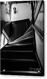 Acrylic Print featuring the photograph Stairway In Amsterdam Bw by RicardMN Photography