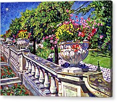 Stairway Of Urns Acrylic Print by David Lloyd Glover