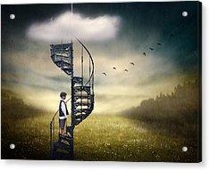 Stairway To Heaven. Acrylic Print by Ben Goossens