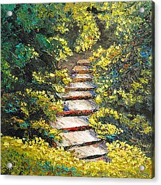Stairway To Heaven Acrylic Print by Cathy Fuchs-Holman