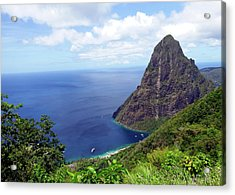 Acrylic Print featuring the photograph Stairway To Heaven View, Pitons, St. Lucia by Kurt Van Wagner