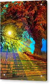 Stairway To  Acrylic Print by Kat Besthorn