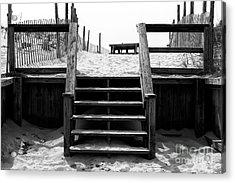 Stairway To Lbi Heaven Acrylic Print by John Rizzuto