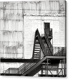 Stairway To Less Than Heaven  Acrylic Print by Olivier Le Queinec