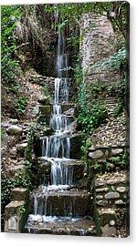 Stairway Waterfall Acrylic Print by Lorraine Devon Wilke