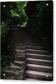 Stairway Watkins Glen 1  Acrylic Print by InTheSane DotCom