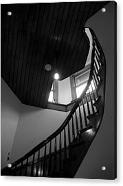 Stairwell To The Studio Crow's Nest Acrylic Print by Robert Boyette