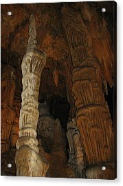 Stalacmites In Luray Caverns Va  Acrylic Print