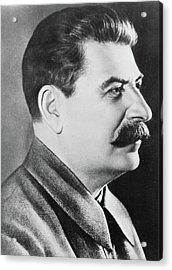Stalin Acrylic Print by Russian School