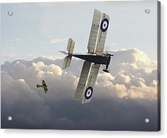 Acrylic Print featuring the digital art Stalked - Se5 And Albatros Dlll by Pat Speirs