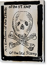 Stamp Act: Cartoon, 1765 Acrylic Print by Granger