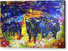 Acrylic Print featuring the painting Stampede by Koro Arandia