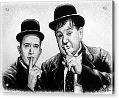 Stan And Ollie Acrylic Print by Andrew Read