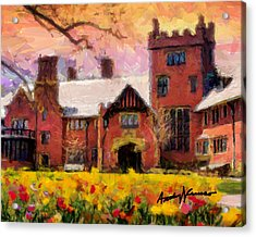 Stan Hewyt Hall And Gardens Acrylic Print by Anthony Caruso