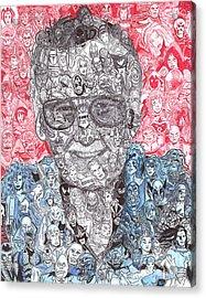 Stan Lee Acrylic Print by Serafin Ureno