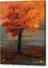 Stand Alone In Color - Autumn - Tree Acrylic Print