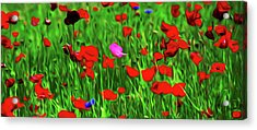 Acrylic Print featuring the digital art Stand Out by Timothy Hack