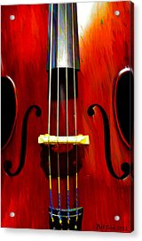 Stand Up Bass Acrylic Print by Bill Cannon