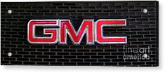 Standard Gmc Emblem And Grille Acrylic Print