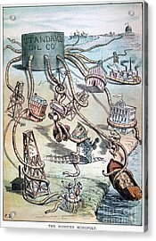 Standard Oil Cartoon Acrylic Print by Granger