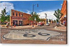 Standin On The Corner Route 66 Acrylic Print by John Kelly