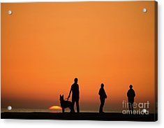Standing At Sunset Acrylic Print